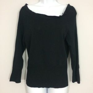 The Limited Womens L Black Pullover Scoop Neck Top